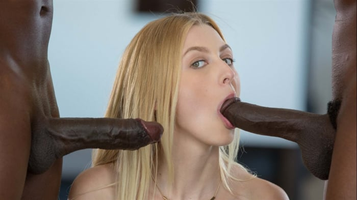 Alexa Grace in Shy Blond Girlfriend First Threesome Wi ...