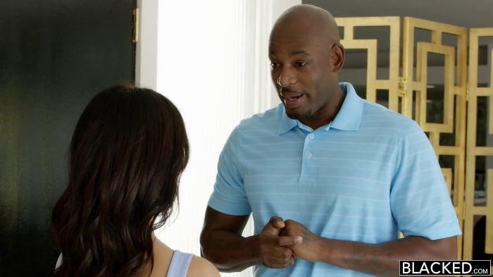 Megan Rain in Preppy Teen Experience Big Black Cock! P ...