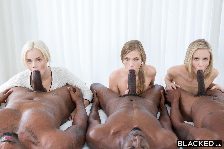 Black Oiled Ebony Threesome