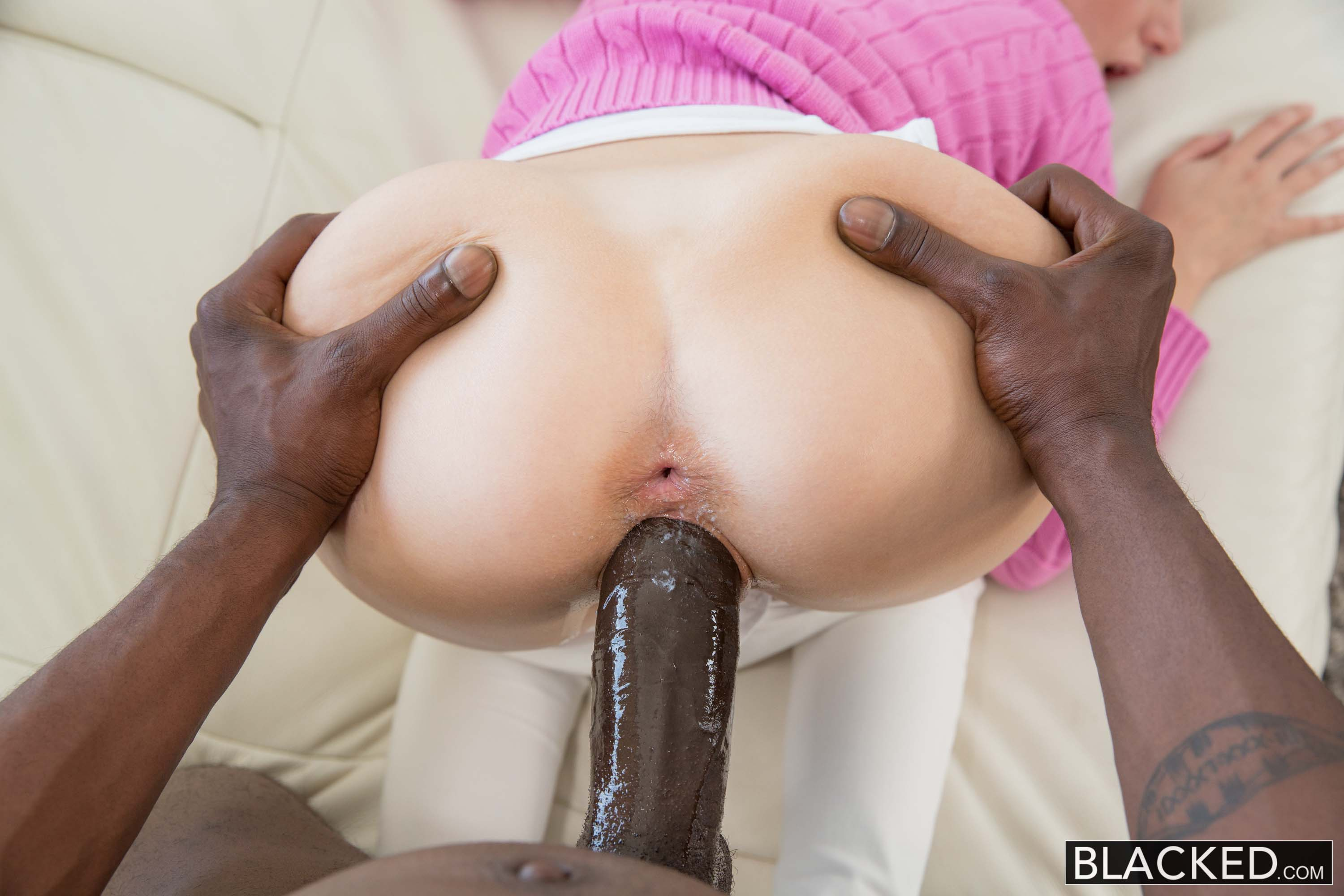 Huge black cock in her ass — photo 11